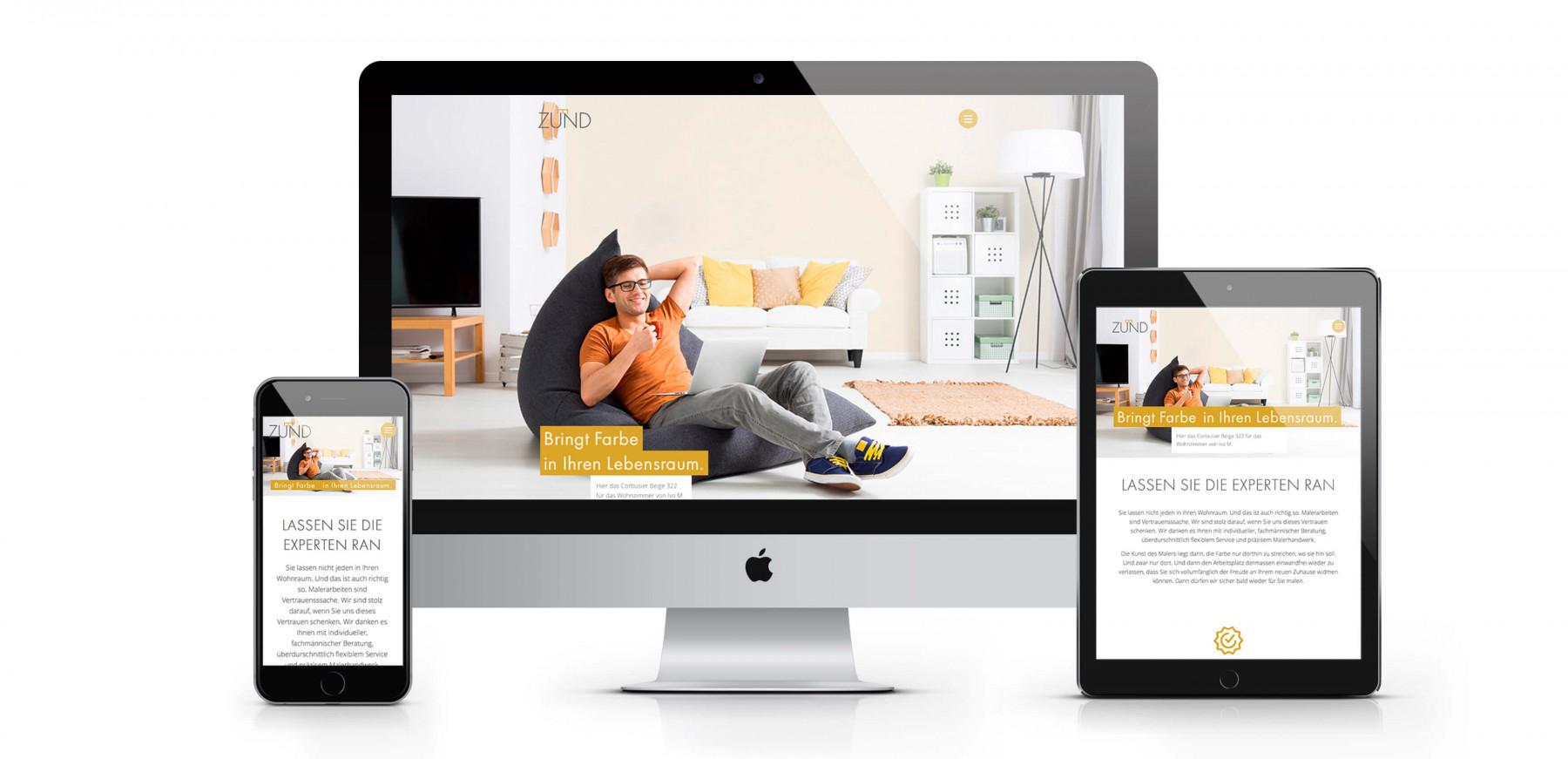 Maler Zünd AG > Redesign und Website | Kommpakt AG Kommunikation